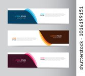 vector abstract banner design....   Shutterstock .eps vector #1016199151