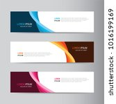 vector abstract banner design.... | Shutterstock .eps vector #1016199169