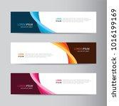 vector abstract banner design.... | Shutterstock .eps vector #1016199169