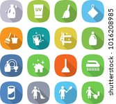 flat vector icon set   cleanser ... | Shutterstock .eps vector #1016208985