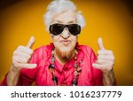 grandmother portrait set in the ... | Shutterstock . vector #1016237779