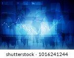 2d rendering stock market... | Shutterstock . vector #1016241244