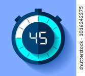 stopwatch icon in flat style ... | Shutterstock .eps vector #1016242375