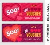 gift voucher template. vector... | Shutterstock .eps vector #1016243299