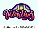 valentines day text with... | Shutterstock .eps vector #1016246881
