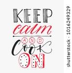 cooking poster. handwritten... | Shutterstock .eps vector #1016249329