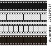 film black and white strip.... | Shutterstock .eps vector #1016249389