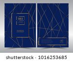 luxury premium menu design... | Shutterstock .eps vector #1016253685