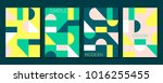 set of 4 simple geometric... | Shutterstock .eps vector #1016255455