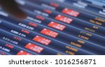 recession of stock market on... | Shutterstock . vector #1016256871