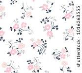 seamless floral pattern in folk ... | Shutterstock .eps vector #1016263555