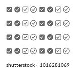 check mark web related icons... | Shutterstock .eps vector #1016281069