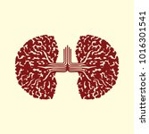 sign trees in the form of lungs ... | Shutterstock .eps vector #1016301541