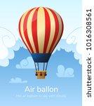 flat hot air balloon | Shutterstock .eps vector #1016308561