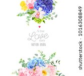 delicate wedding floral vector... | Shutterstock .eps vector #1016308849