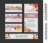 flower bussines card tempate   Shutterstock .eps vector #1016309809