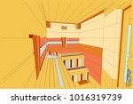 project of sauna and showers... | Shutterstock .eps vector #1016319739