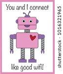 robot valentine greeting card   Shutterstock . vector #1016321965