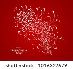 valentine's day doddle hearts... | Shutterstock .eps vector #1016322679