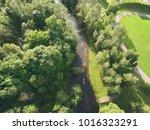 summer kayaks drone photo  ... | Shutterstock . vector #1016323291