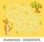 help kangaroo cub find path to... | Shutterstock .eps vector #1016325241