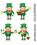 collection of leprechaun for... | Shutterstock .eps vector #1016330965