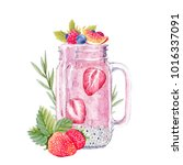 watercolor illustration of a... | Shutterstock . vector #1016337091