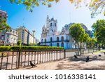 city of buenos aires on sunny... | Shutterstock . vector #1016338141