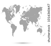 world map vector | Shutterstock .eps vector #1016360647