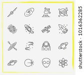 astronomy line icon set...   Shutterstock .eps vector #1016362285