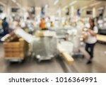blurred image of businesswoman... | Shutterstock . vector #1016364991