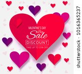 beautiful hearts valentine's... | Shutterstock .eps vector #1016365237