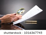 close up of a judge's hand... | Shutterstock . vector #1016367745