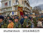 Small photo of KALAMATA, GREECE FEB 2 2018: Crowds of people in Kalamata Celebrates Candlemas (Feast of the Presentation of Our Lord Jesus) a Christian Holy Day commemorating the presentation of Jesus at the Temple