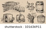 wine collection | Shutterstock .eps vector #101636911