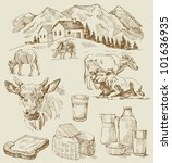 farm   hand drawn set   Shutterstock .eps vector #101636935
