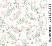 seamless pattern of hand drawn... | Shutterstock .eps vector #1016371585