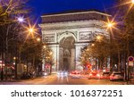 the triumphal arch is one of... | Shutterstock . vector #1016372251