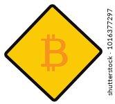 bitcoin  caution sign  symbol ... | Shutterstock .eps vector #1016377297