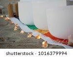 crystal singing bowls for... | Shutterstock . vector #1016379994
