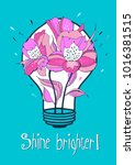 shine brighter. vector... | Shutterstock .eps vector #1016381515