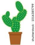 vector illustration of a cute... | Shutterstock .eps vector #1016385799