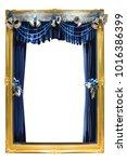 elegant vintage gold frame... | Shutterstock . vector #1016386399