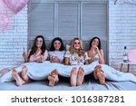 friends forever. four... | Shutterstock . vector #1016387281