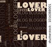 pastel colors  fashion hashtag... | Shutterstock . vector #1016388001