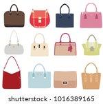 vector illustration of set of... | Shutterstock .eps vector #1016389165