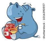 vector illustration of a cute... | Shutterstock .eps vector #1016390557