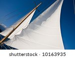 yacht sail and blue cloudless... | Shutterstock . vector #10163935