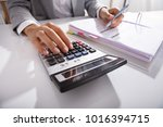 close up of businessperson... | Shutterstock . vector #1016394715