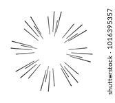 vintage sunburst design element ... | Shutterstock .eps vector #1016395357